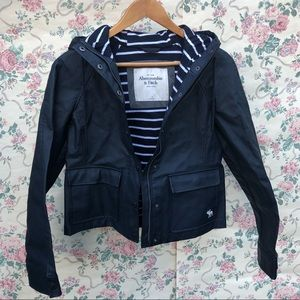 Abercrombie & Fitch Navy Blue Rain Jacket